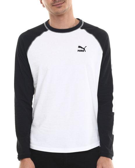 Ur-ID 213823 Puma - Men White Logo Cuffed L/S Tee
