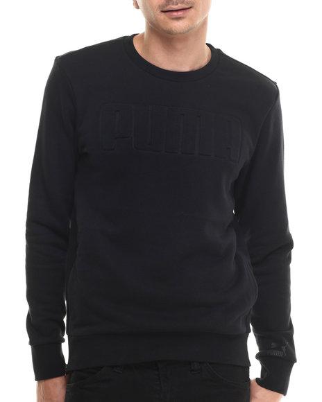 Ur-ID 213837 Puma - Men Black Signature Embossed Crewneck Sweatshirt