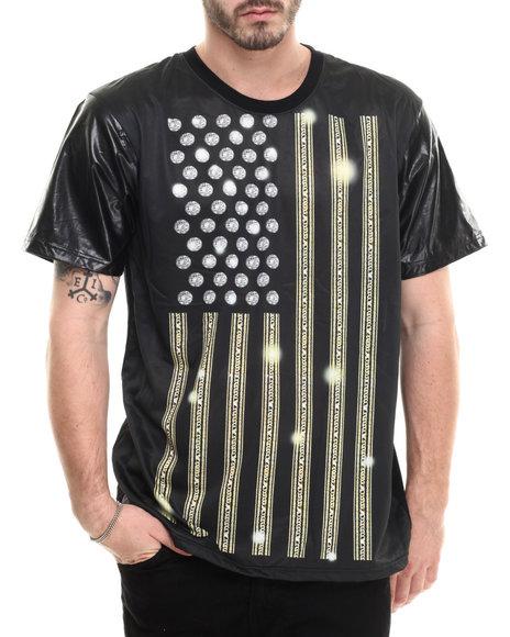 Buyers Picks - Men Black New Flag Sublimation S/S Tee