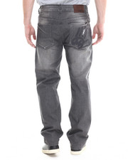 Men - Grey wash Big Hand Back pocket embroidery denim jeans