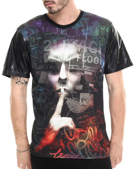 Buyers Picks - Men Black Shhhh Sublimation S/S Tee - $30.00