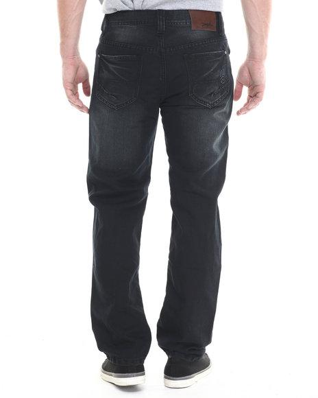 Buyers Picks - Men Black Black Sand Hand Embossed Back Pocket Denim Jeans