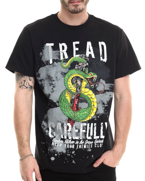 Ur-ID 213866 Miskeen - Men Black Snake Graphic S/S Tee
