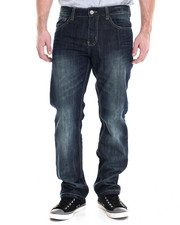 Men - Vintage Wash embossed denim jeans
