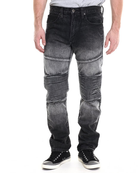 Eight 732 - Men Black Danger Zone Denim Jean