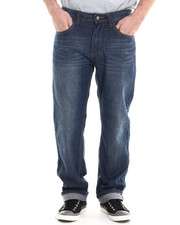 Men - Dark Indigo Big Hand Back pocket embroidery denim jeans