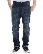 Men - Faded Camo washed denim Jeans