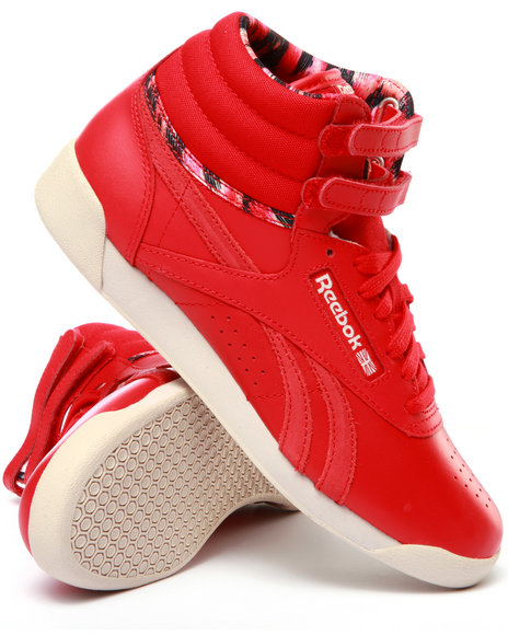 Ur-ID 213841 Reebok - Women Red Freestyle Hi Graphics