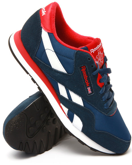 Reebok - Men Blue Classic Nylon Low