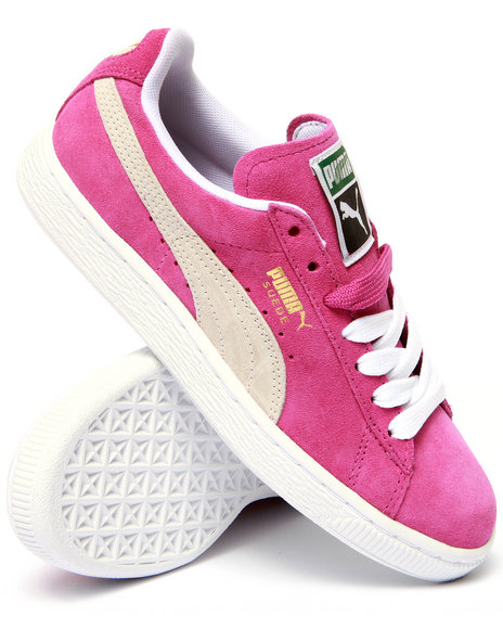 Puma - Women Pink Suede Classic Sneakers