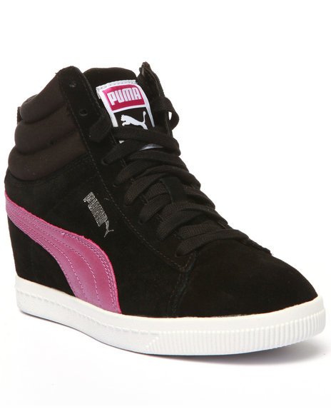 Ur-ID 213849 Puma - Women Black Pc Wedge Basic Sport Sneakers