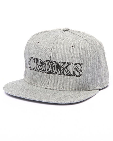 Crooks & Castles Men Sovereign Snapback Cap Grey
