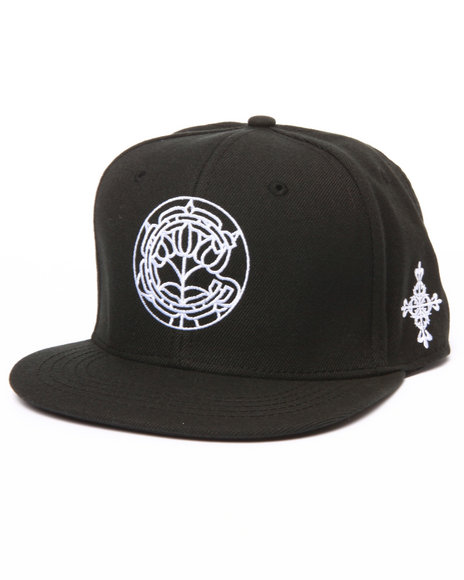 Crooks & Castles Men Dynasty Snapback Cap Black - $40.00