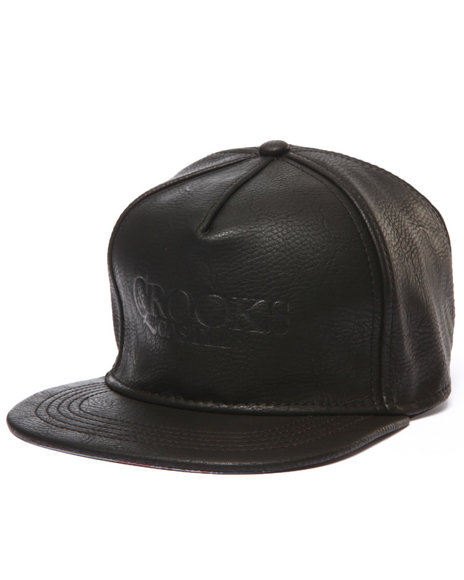 Crooks & Castles Men God's Hand Strapback Cap Black - $30.00