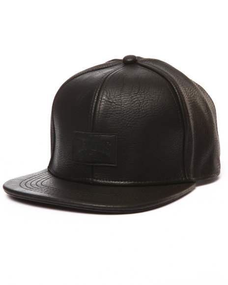 Crooks & Castles Men Core Logo Strapback Cap Black - $30.00