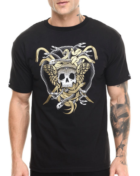 Crooks & Castles - Men Black Origin Medusa T-Shirt - $30.00