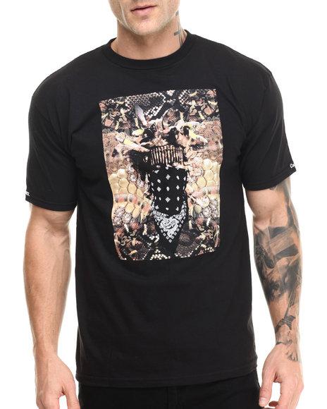 Crooks & Castles - Men Black Queen Medusa T-Shirt - $30.00