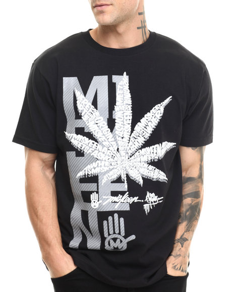 Miskeen - Men Black Leaf's Away S/S Tee - $20.00