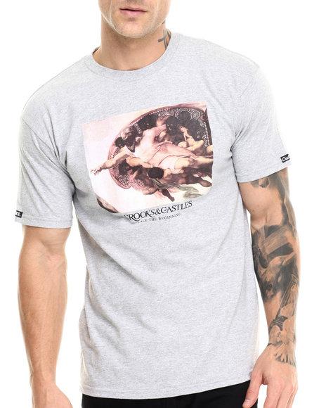Crooks & Castles - Men Grey God's Hands T-Shirt - $30.00