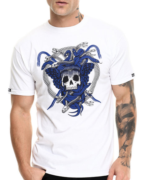 Crooks & Castles - Men White Origin Medusa T-Shirt - $30.00