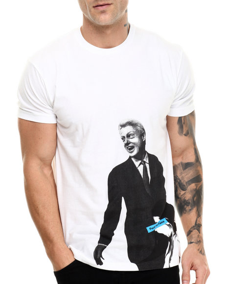 Akomplice - Men White Clinton Bj Tee - $29.50