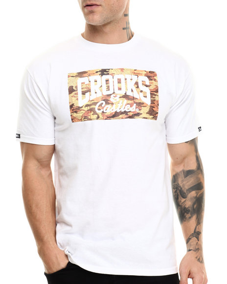 Crooks & Castles - Men White Core Map T-Shirt - $30.00
