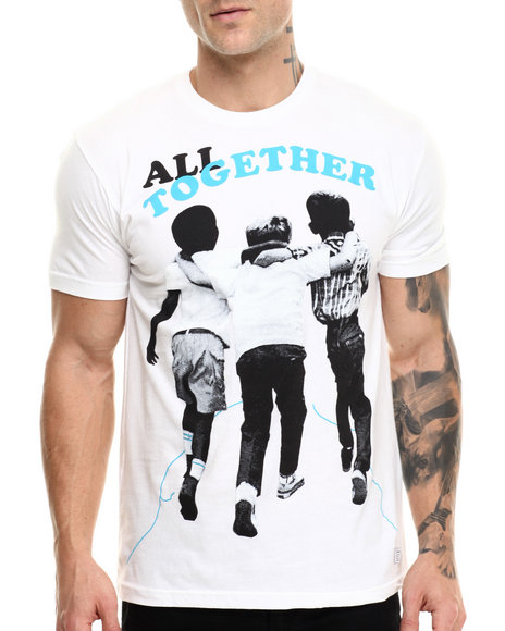 Akomplice - Men White All Together Tee - $29.50