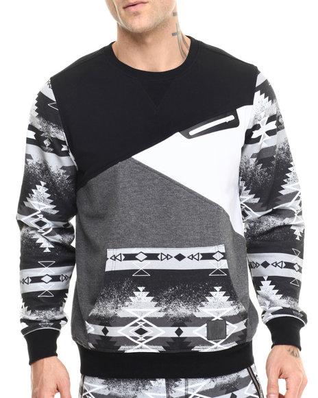 Allston Outfitter - Men Black,Grey Sparkle Navajo Sweatshirt