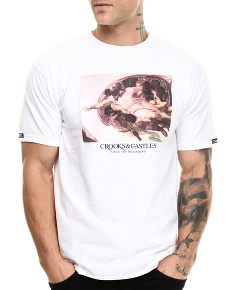 Crooks & Castles - Men White God's Hands T-Shirt - $30.00