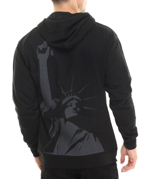 Akomplice - Men Black Liberty Pullover Hoodie