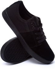 Footwear - Stacks Black Suede/Canvas Sneakers