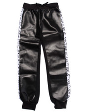 Bottoms - PU JOGGER W/ SIDE PANEL (7-16)