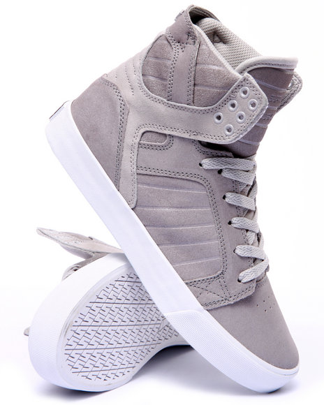 Supra - Men Silver Skytop Sneakers