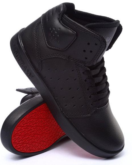 Supra - Boys Black Atom Sneakers (1-6)