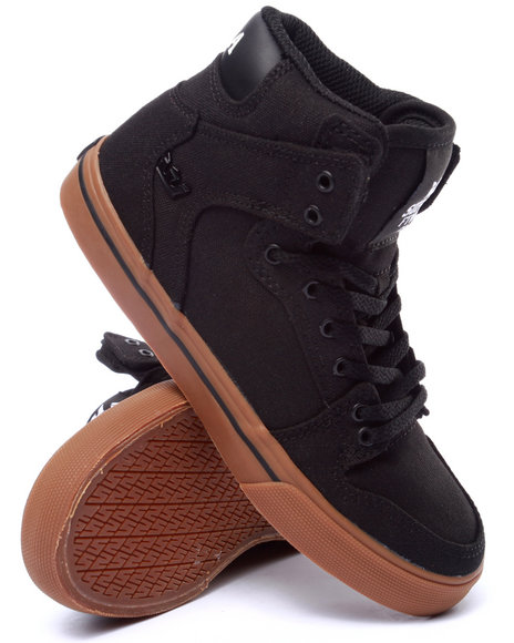 Supra - Boys Black Vaider Sneakers (1-6)