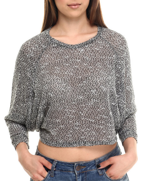 Ur-ID 213881 ALI & KRIS - Women Black Knit Batwing Light-Weight Sweater