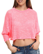 Women - Knit Batwing Light-Weight Sweater