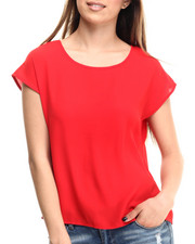 Fashion Tops - Chiffon Hi-Low Hem Top