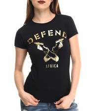 Women - Defend Africa Gold Foil Signature S/S Tee