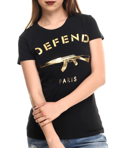 Defend Paris Black Tees