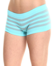 Women - Sparkle Stripe Seamless Boy Short