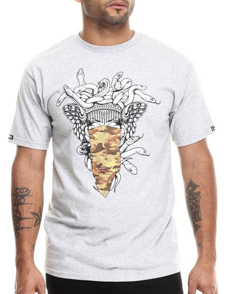 Crooks & Castles - Men Grey Atlas Medusa T-Shirt