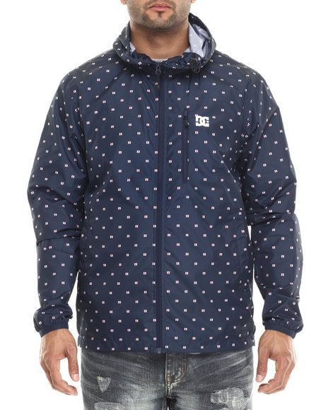 Dc Shoes - Men Navy Dagup Print Jacket - Micro