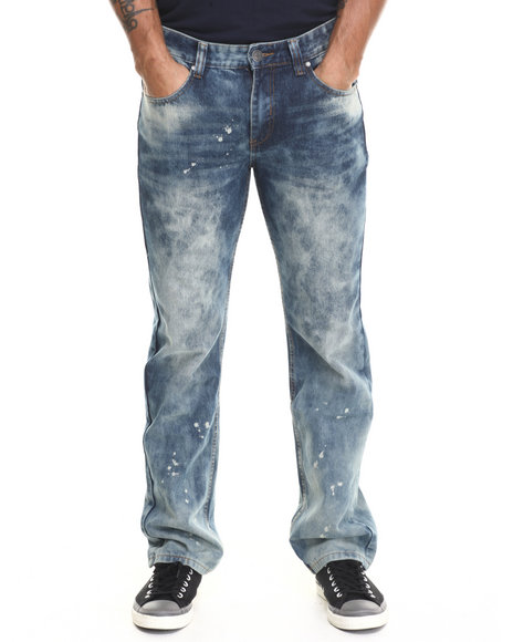 Enyce - Men Medium Wash Distressed Denim Jeans
