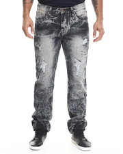 Regular - Distressed Denim Jeans