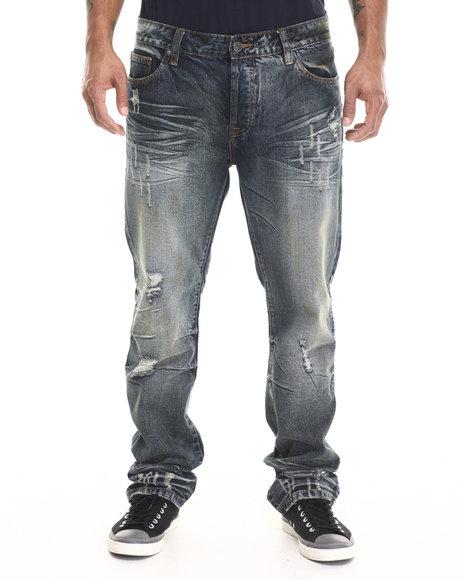 Kilogram - Men Dark Wash Buffalo Heavy - Wash Denim Jeans