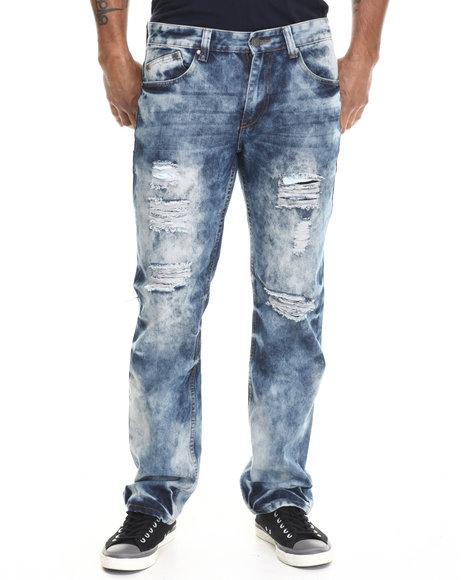 Enyce - Men Indigo Dyed Washed Denim Jeans