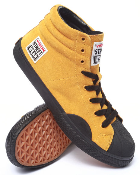 Ur-ID 213993 Vision Street Wear - Men Yellow Suede Hi