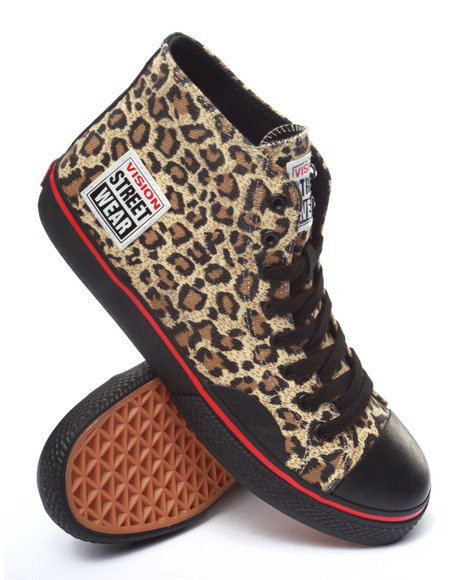 Ur-ID 213994 Vision Street Wear - Men Animal Print Canvas Hi