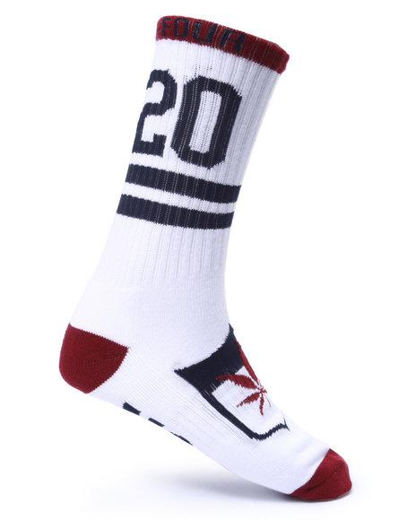 Dgk Men Always Four-20 Crew Socks White